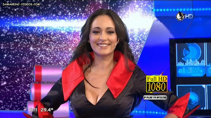 Gaby Sobrado busty cleavage tv hostess full HD video