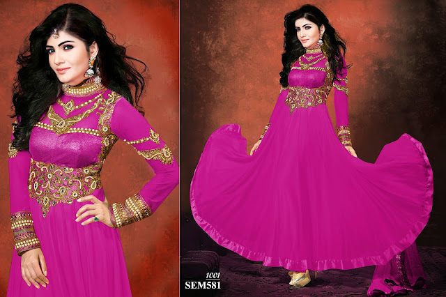 Exclusive Party Wear Georgette Long Gher Anarkali Suit