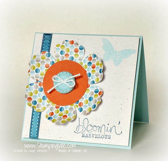 Stampin' Up! Bloomin' Marvelous Stamp Set Mini Card