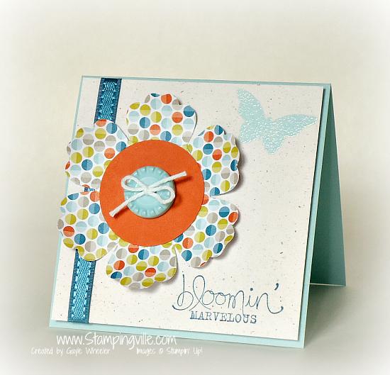 Stampin' Up! Bloomin' Marvelous Stamp Set Mini Card