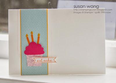 Susan Wong. Eat Cake card.