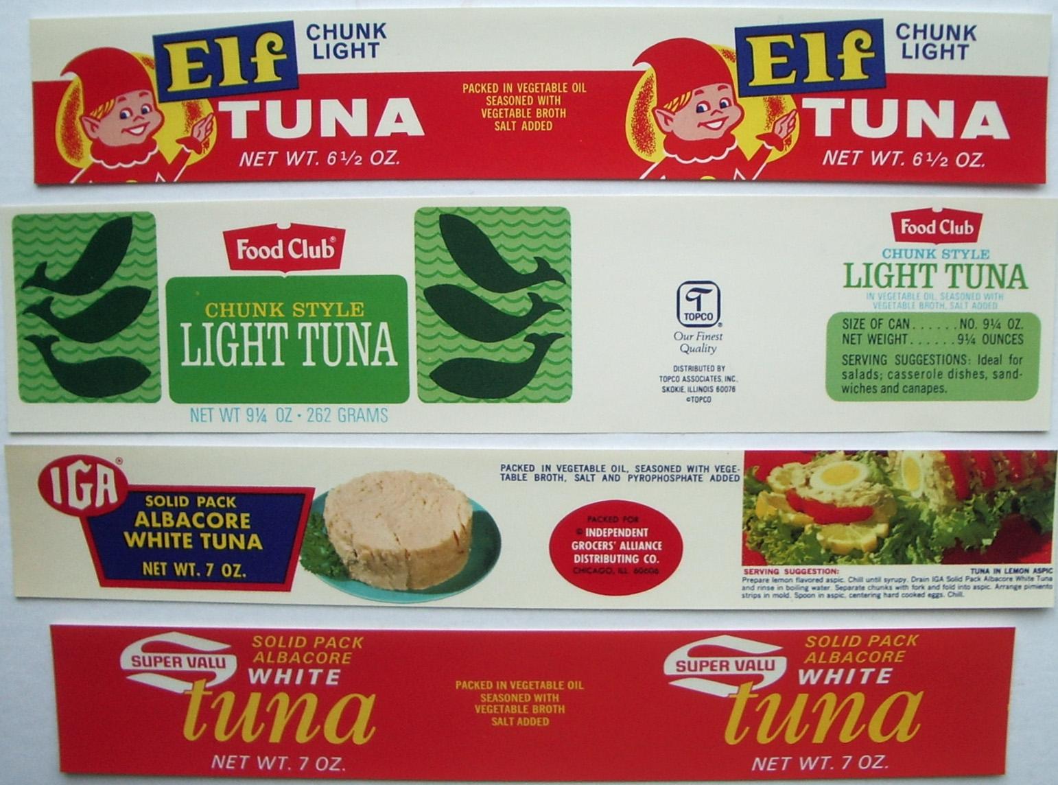 Tuna fish can label - photo#6
