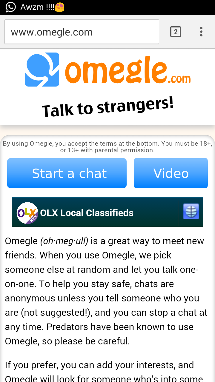 omegle video android