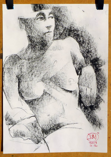 Charcoal nude by David Meldrum