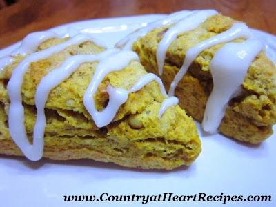 pumpkin walnut scones