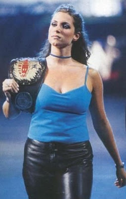 WWE Stephanie McMahon with Championship Belt ستيفاني مكمان اغراء