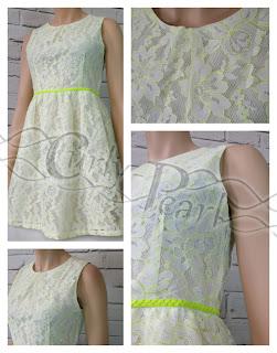 weißes Kleid Neon