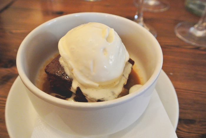 Sticky toffee pudding at Howie's Edinburgh