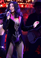 Cher during her 'Burlesque' set on her 'Dressed To Kill Tour'