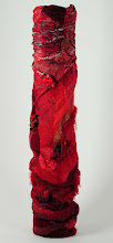 Red Toxic Stack Sculpture