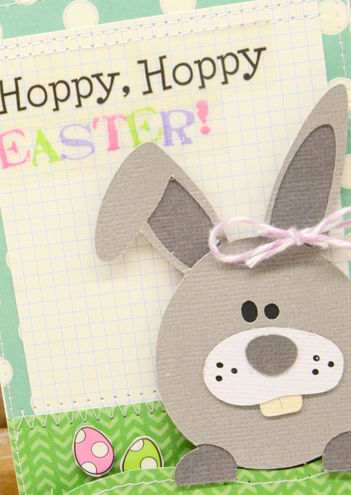 SRM Stickers Blog - Easter Card by Laurel - #card #easter #stickers #twine