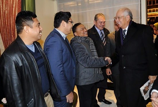 Najib Arrives In London For Two day Working Visit