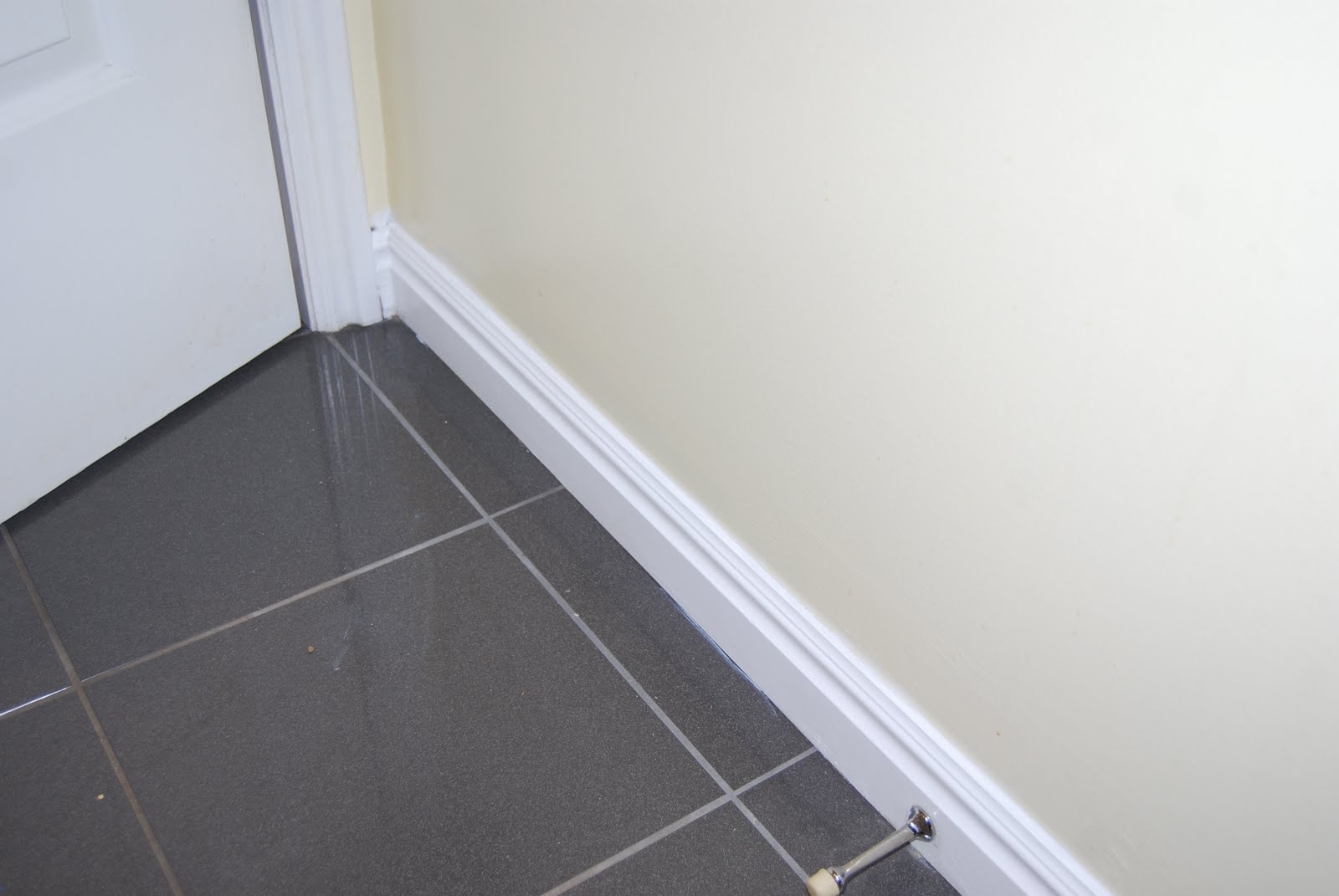 something that stays done bathroom baseboards