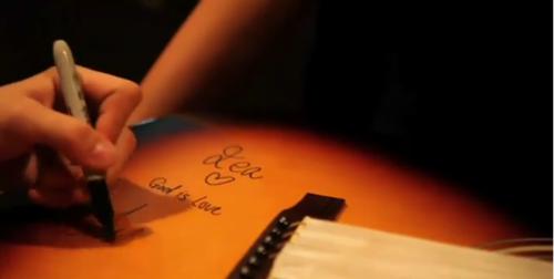 Justin Bieber Handwriting