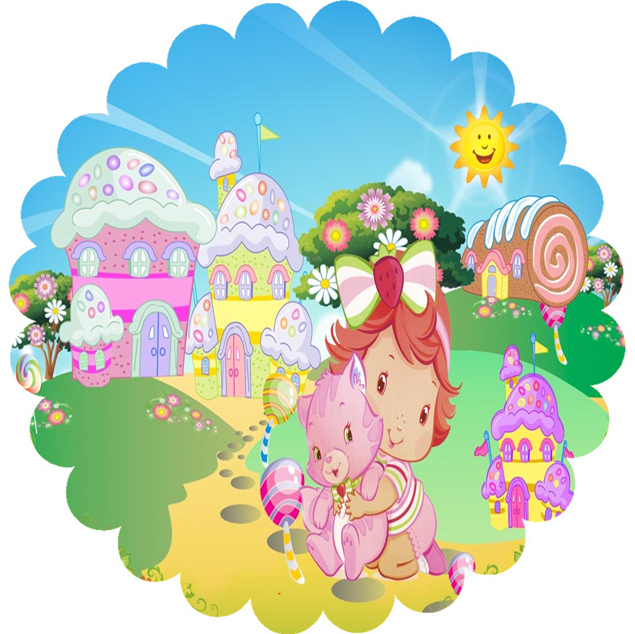 Strawberry Shortcake Baby: Free Printable Topper or Label.
