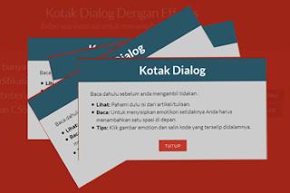 Memasang Button Kotak Dialog