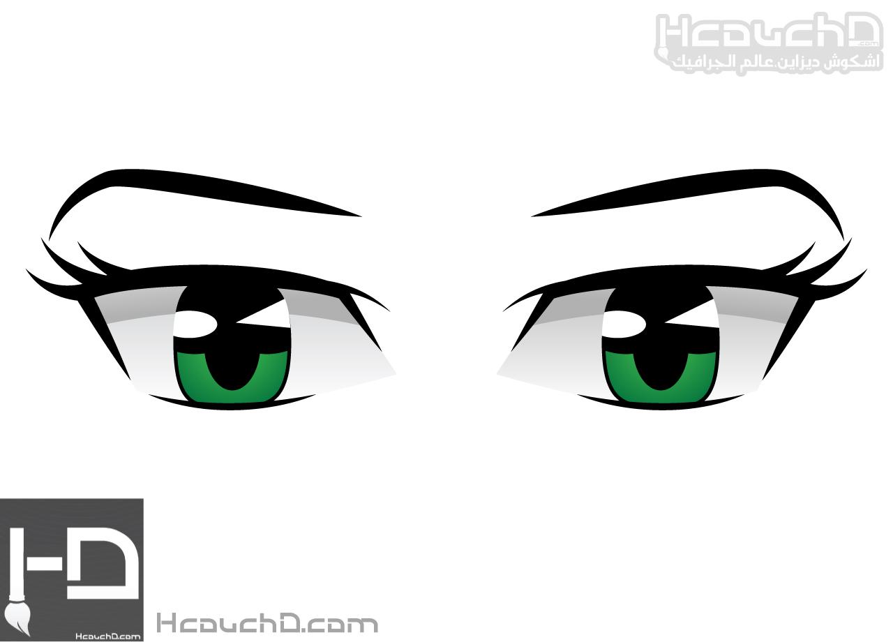 دروس اليستريتور 43 كيفية رسم عين المانغا انمي