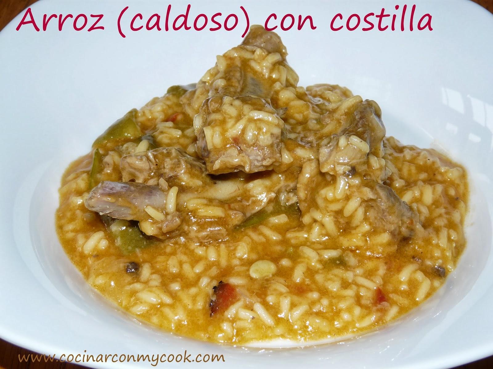 Cocinar con mycook arroz caldoso con costilla - Arroz caldoso con costillas y alcachofas ...