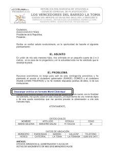 carta a Chávez (sin respuesta)