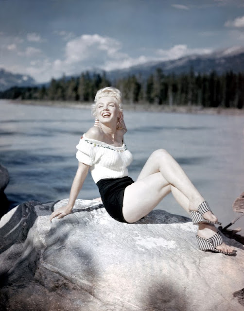marilyn monroe on vacation, 1950s