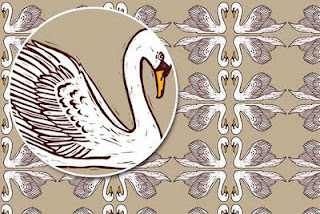 Mute Swan Surface Design Pattern