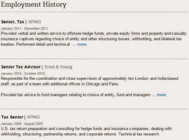 employment history sample