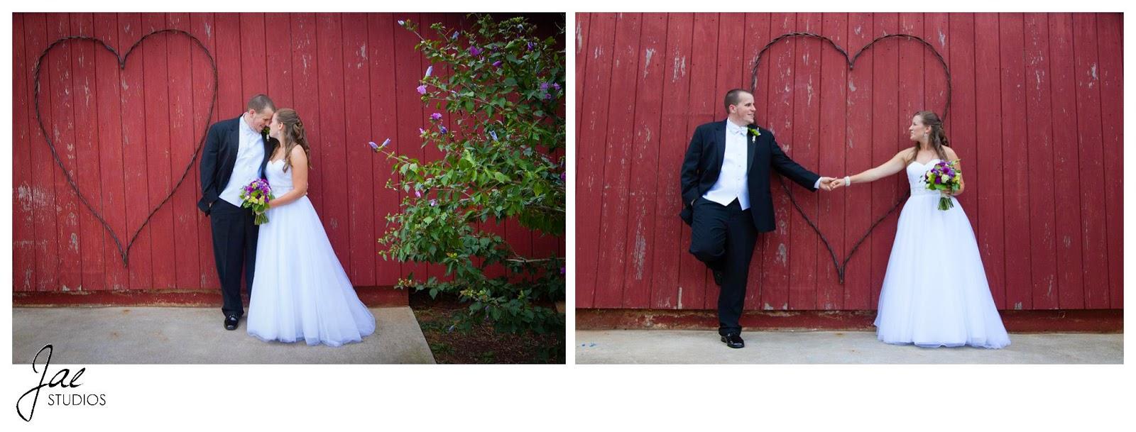 Jonathan and Julie, Bird cage, West Manor Estate, Wedding, Lynchburg, Virginia, Jae Studios, red door, barn, flowers, heart, wedding dress, tuxedo, flowers, bouquet, holding hands, hugging