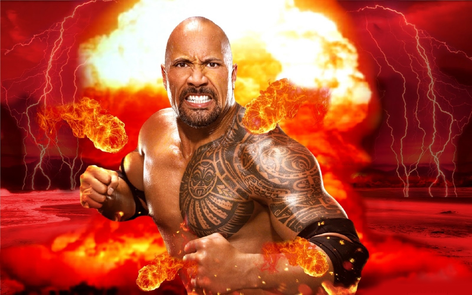 Wrestling Super Stars: The Rock Latest HD Wallpapers 2013