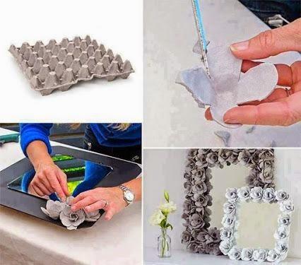 #T20 DIY: Marco de Espejo de Flores con cartón de huevos