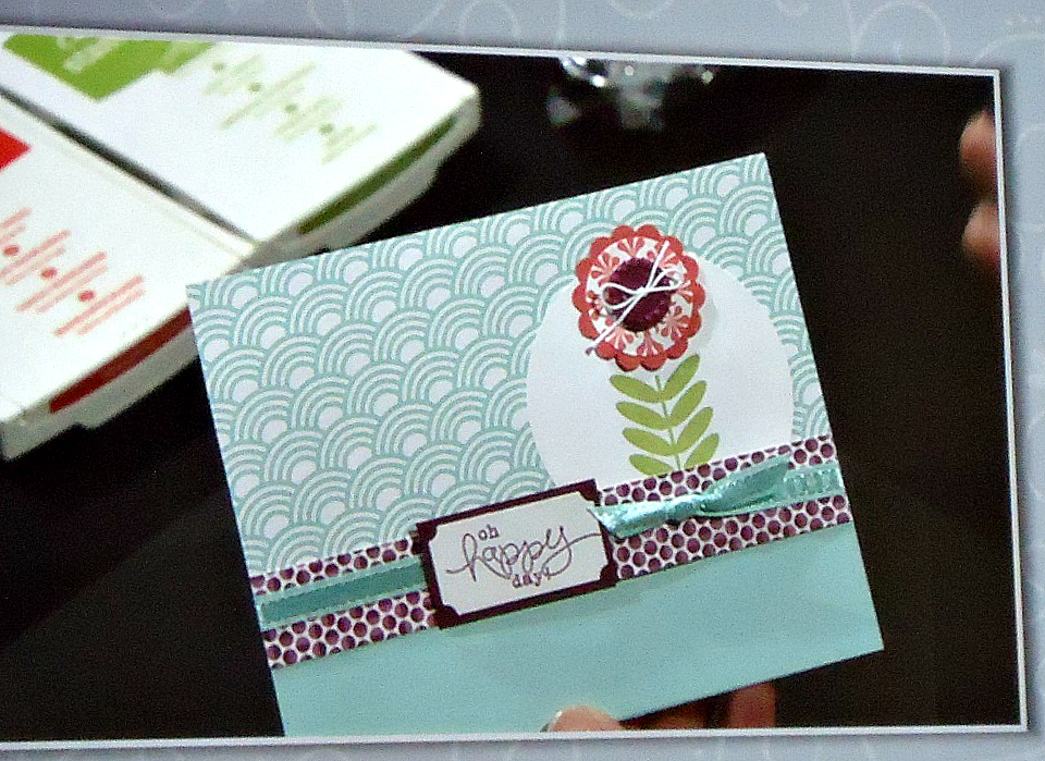 Stampin' Up! Bloomin Marvelous Stamp Set Card Sample