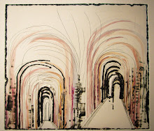"""Bologna Wander""I, 2011, by Tunde Toth, mixed media monoprint"