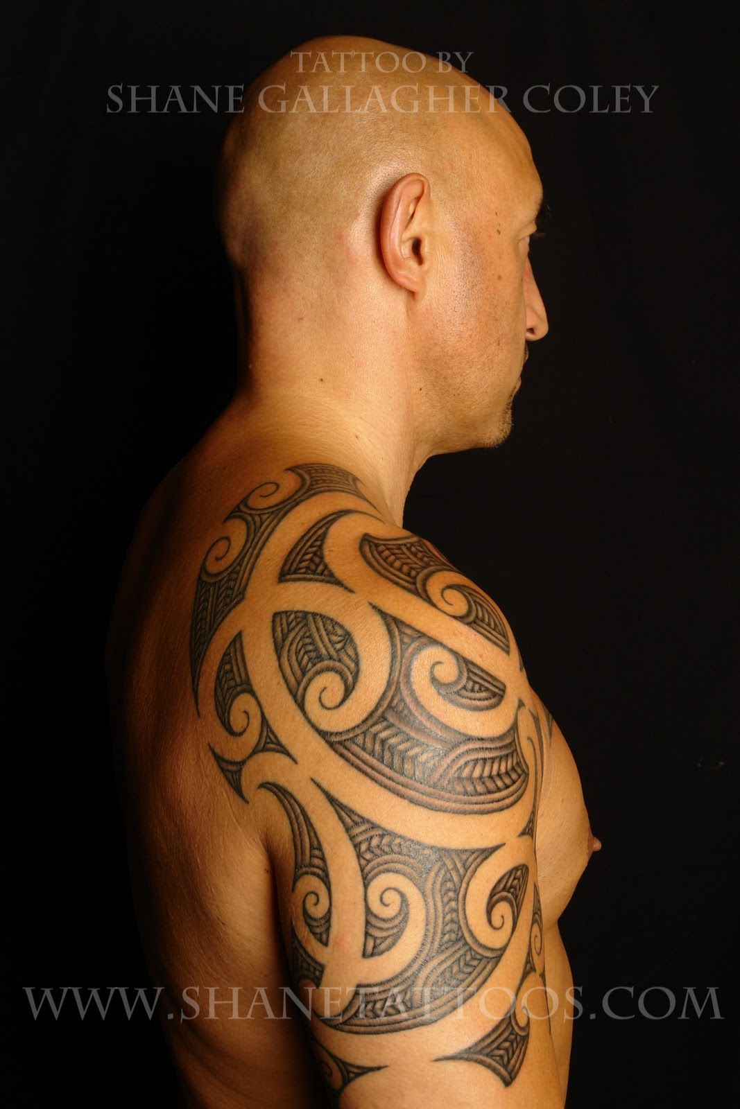 shane tattoos maori shoulder half sleeve tattoo on doug. Black Bedroom Furniture Sets. Home Design Ideas