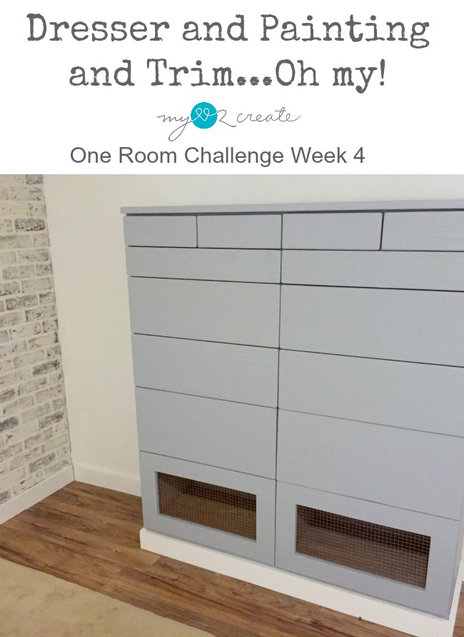 built-in dresser in closet