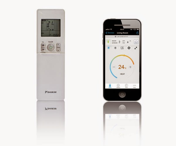Климатиците Daikin Emura могат да се управляват чрез дистанционно управление, смартфон и таблет.