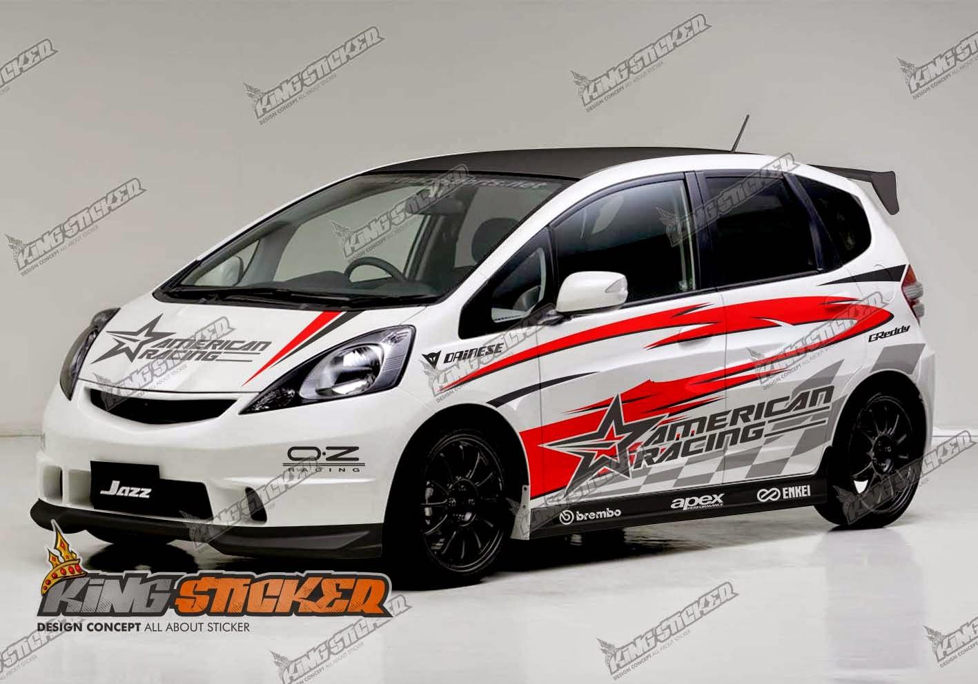 Sticker js racing - Cutting Sticker Honda Jazz Rs King Sticker Bali