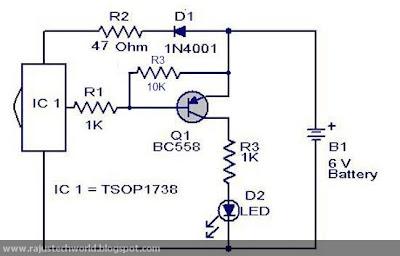 Raju s Tech World  Circuit on Handheld    remote       control    tester