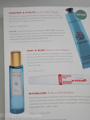 BBB Dream Box IV - Crabtree & Evelyn La Source Hand Therapy, Shay & Blue Framboise Noire Fragrance, Maybelline Dr Rescue SOS Nail Balm