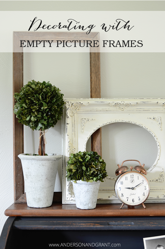 Decorating with Empty Thrift Store Frames | anderson + grant