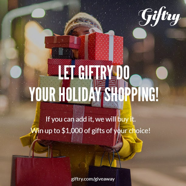 Let Giftry do your holiday shopping! Giftry.com/giveaway