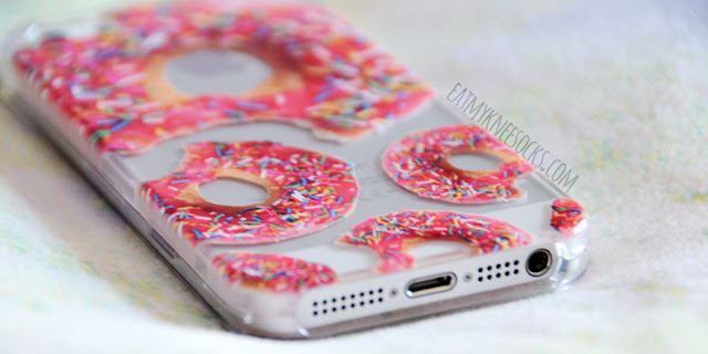 Clash Cases' phone cases are super quirky, unique, and high-quality, like their donut with sprinkles printed case, pictured here.