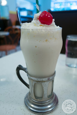 image of vanilla milkshake at Schnackenberg's in Hoboken, NJ
