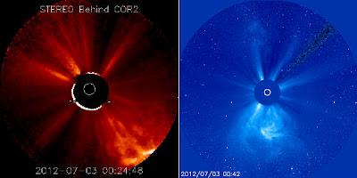 llamarada solar clase m2.0, 02 de Julio 2012 a las 23:56 UTC