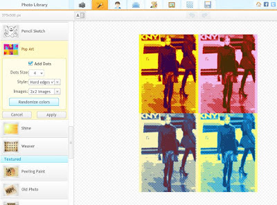 Online editor has setting for Andy Warhol-like Pop Art