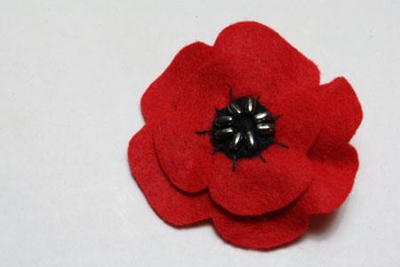 Remembrance Day Poppy - Free Crochet Pattern!
