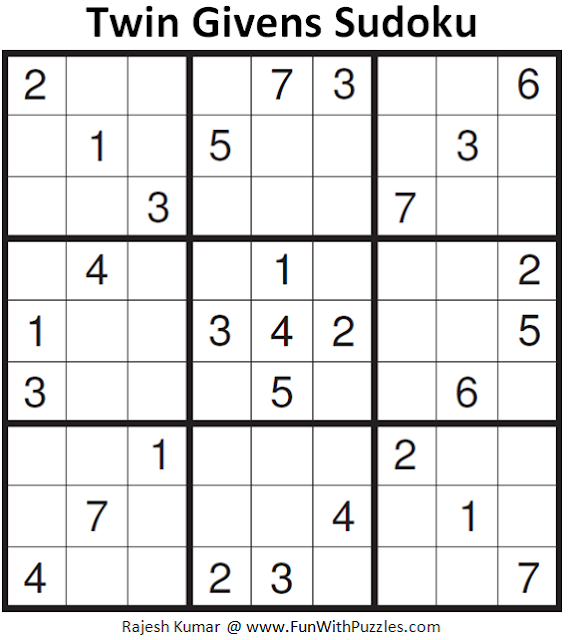 Twin Givens Sudoku (Fun With Sudoku #155)