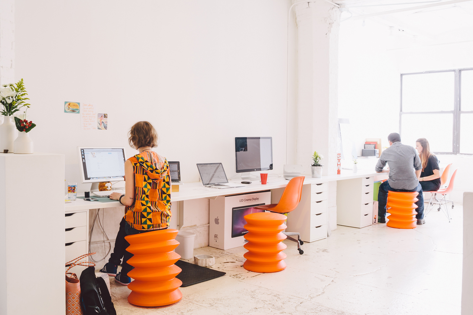 My Scandinavian Home A Fresh Work Space In White And Orange
