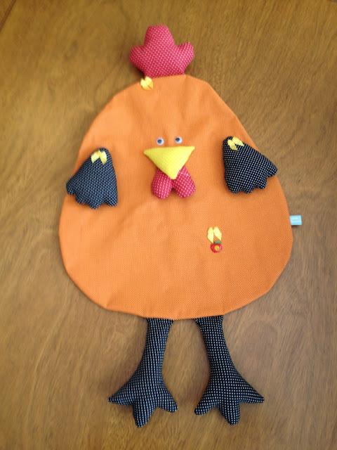 Puxa saco de cozinha em forma de galinha | @ateliemadrica