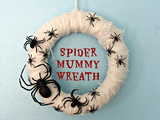 Spider Mummy Wreath by Crafty Little Gnome