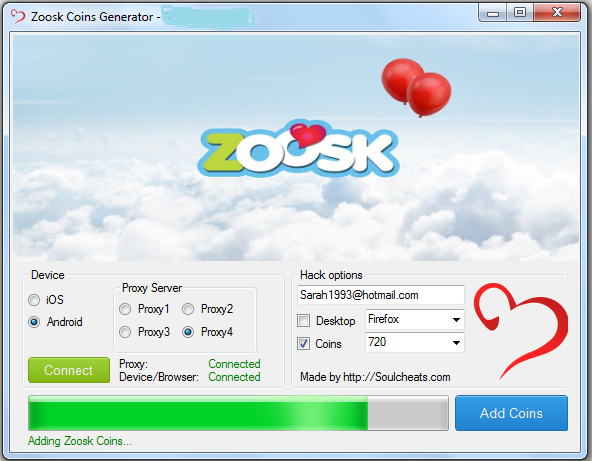 how to get zoosk coins