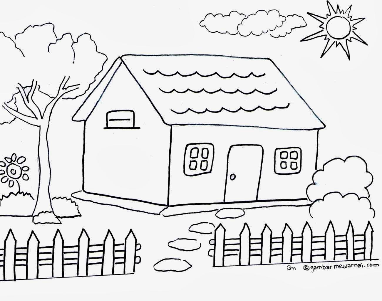Klik Gambar Untuk Memperbesar Gambar Mewarnai Rumah Untuk Anak Anak lain